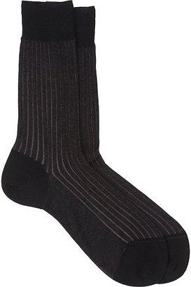 Barneys New York Men's Vanisé-Knit Mid-Calf Socks $42 thestylecure.com