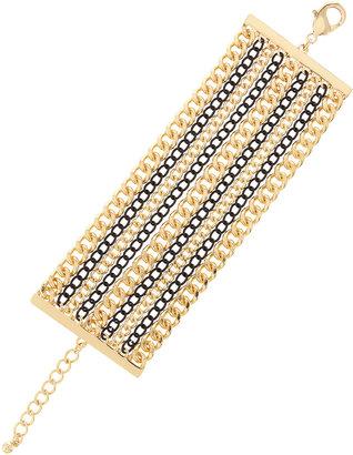 Fragments for Neiman Marcus Multi-Chain Bracelet, Black/Golden