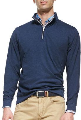 Peter Millar 1/2-Zip Jersey Pullover Sweater, Navy $125 thestylecure.com