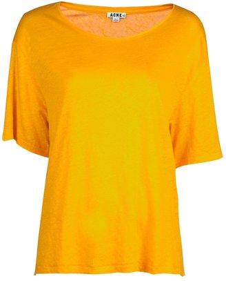Acne Linen jersey top