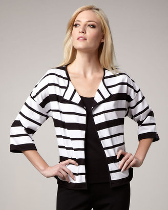 Joan Vass Striped Knit Jacket