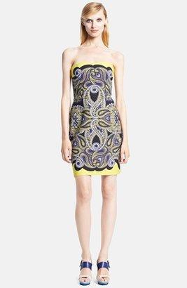 Lanvin Strapless Techno Piqué Bustier Dress