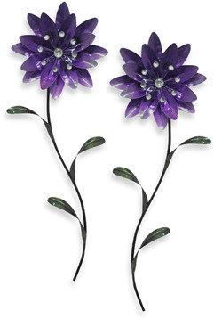Bed Bath & Beyond Metal Flower Wall Art - Purple