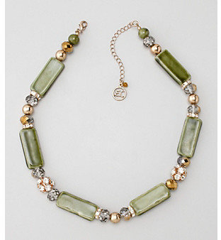 Erica Lyons® Green Evergreen Necklace