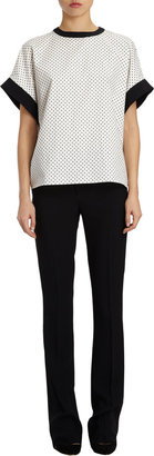 Ungaro Flocked Pin Dot Top