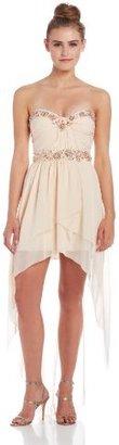 My Michelle Juniors Jewel High/Low Dress