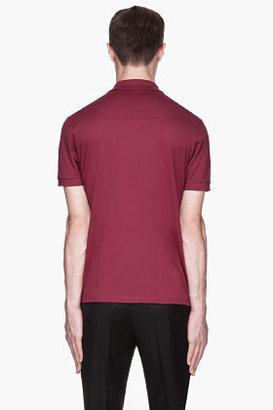 Lanvin Maroon red sneaker logo polo