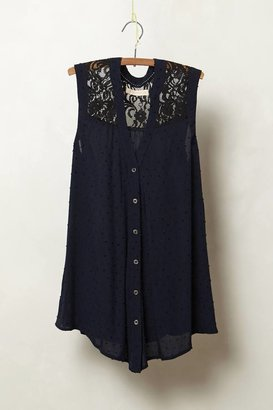 Anthropologie Clipped Dot Blouse