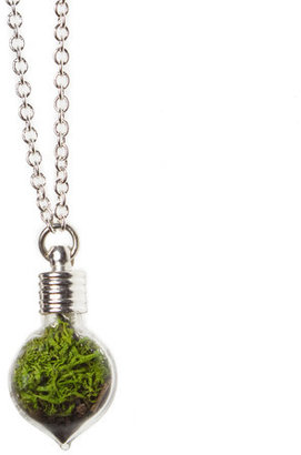 With Roots Heart Necklace Silver Plate