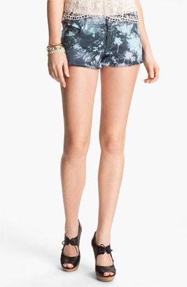 STS Blue Tie Dye Cutoff Denim Shorts (Juniors)