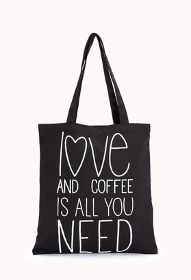 Forever 21 Conversation-Starting Love & Coffee Tote