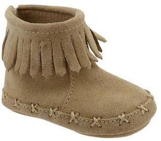 Gap Fringe suede moccasin booties