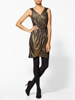 Miss Me Gold Tank Dress