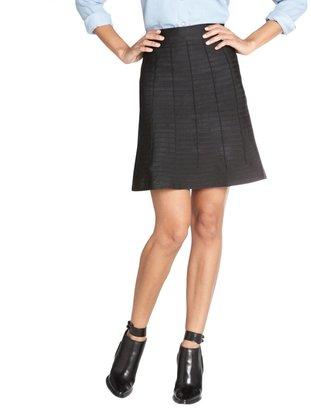 Wyatt Black Stretch Bandage Flared Skirt