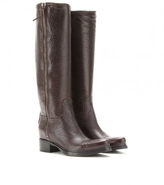 Miu Miu Textured leather knee boots
