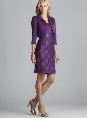 Tahari Lace Jacquard Jacket Dress