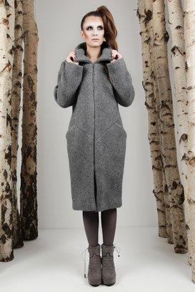 Carnet de Mode Coat - Wool - Grey