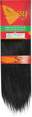 The Sassy Collection Sassy Silky Straight Human Hair Extensions 10 Inch Jet Black