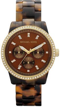 MICHAEL Michael Kors Michael Kors 'Ritz' Crystal Index Bracelet Watch