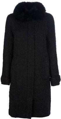 Lanvin fur collar coat