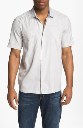 Tommy Bahama 'Sound Wave' Silk Blend Campshirt Micro Chip Large