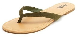 Charlotte Russe Basic Sueded Flip Flop
