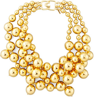 Kenneth Jay Lane Golden Beaded Cluster Necklace