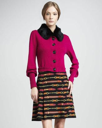 Nanette Lepore Belt-Print Skirt