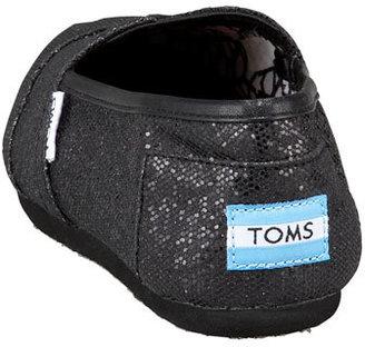 Toms Glitter Slip-On, Black