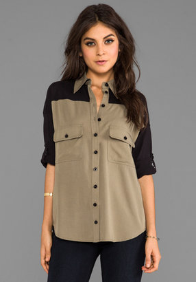Green & Black primary Combo Wingback Shirt