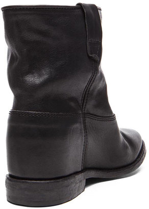 Isabel Marant Cluster Calfskin Leather Boot in Black
