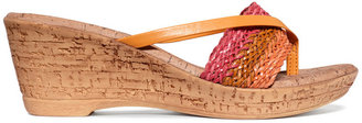 Easy Street Shoes Tuscany by Roma Platform Thong Sandals