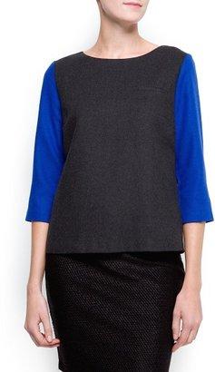 MANGO Contrast sleeves top