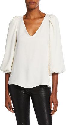 Trina Turk Danise Blouson 3/4-Sleeve Top