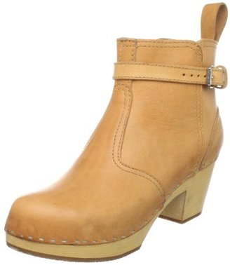 Swedish Hasbeens Women's 865 Ankle Boot,Nature,7 M US