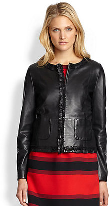 Max Mara Weekend Albano Fringed Leather Jacket