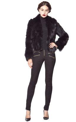 Alice + Olivia Eltea Cropped Fur Jacket