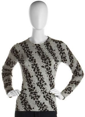 Leopard-Striped Cashmere Sweater