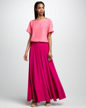 Neiman Marcus Pull-On Maxi Skirt