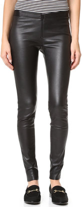 alice + olivia Zip Front Leather Leggings $796 thestylecure.com