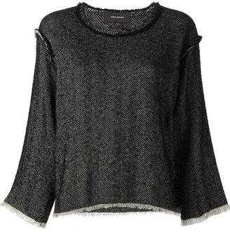 Isabel Marant raw seam herringbone sweater