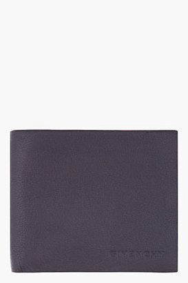 Givenchy Black Leather Billfold Wallet