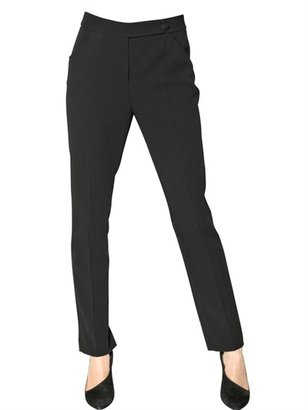 Giorgio Armani Wool Crepe Sable Trousers
