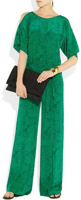 ALICE by Temperley Heron-print silk jumpsuit