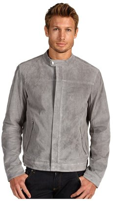 Michael Kors Perforated Suede Racer Jacket (Chrome) - Apparel