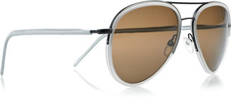 Cutler and Gross Acetate and metal-frame aviator sunglasses