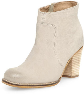 Dorothy Perkins Beige leather zip heeled boots