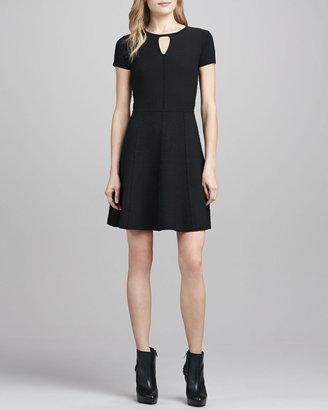 Rebecca Taylor Diamond-Texture Stretch Dress