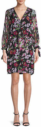 Equipment Natasha Floral Silk Shift Dress