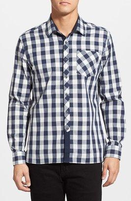 Men's 7 Diamonds 'Rip Tide' Trim Fit Check Woven Shirt $99 thestylecure.com